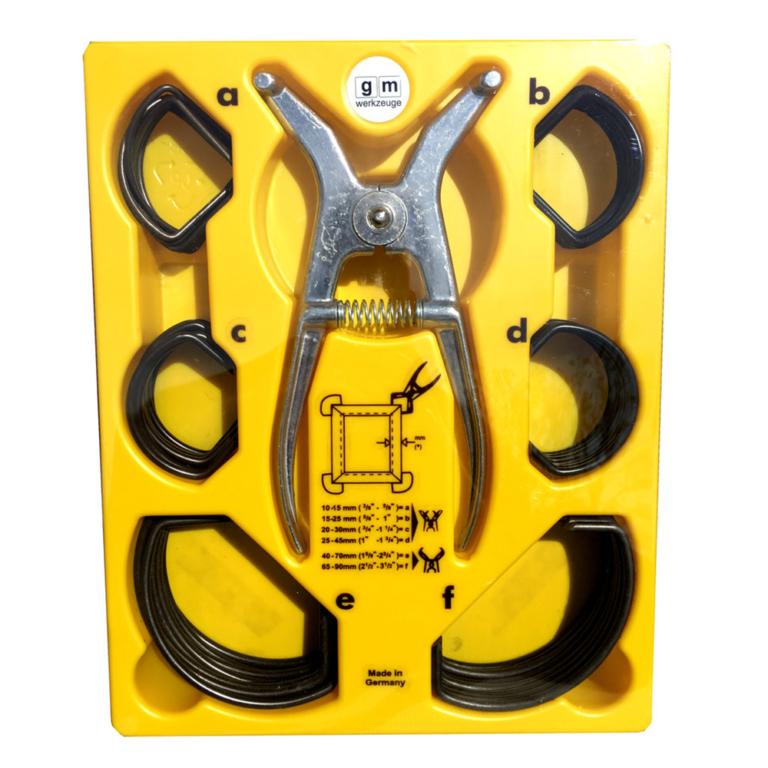 gm Arbeitsgarnitur - Gehrungsspannklammern | gm-werkzeuge