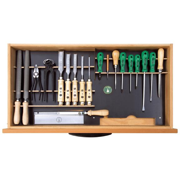 Ulmia Werkzeugsatz 304 für Unterbauschrank in Draufsicht