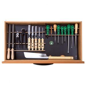 Ulmia Werkzeugsatz 306 für Unterbauschrank in Draufsicht