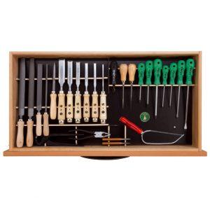 Ulmia Werkzeugsatz 316 für Unterbauschrank in Draufsicht