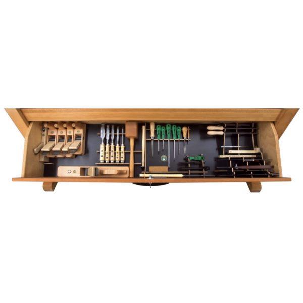Ulmia Werkzeugsatz 306 für Ulmia Kipplade in Draufsicht