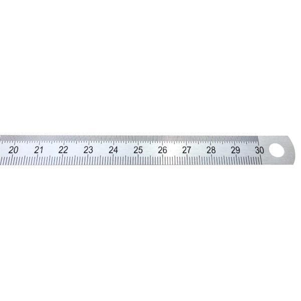 gm Stahlmaßstab 300 mm in Draufsicht